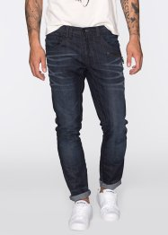 Jean Regular Fit Tapered, RAINBOW, dark bleu used