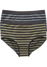 Shorty seamless, bpc bonprix collection, gris/bleu/jaune rayé