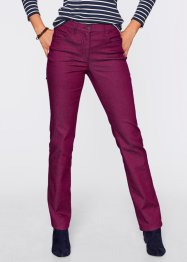 Pantalon super stretch, droit, bpc bonprix collection, prune
