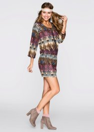 Robe, RAINBOW, marron/bordeaux multicolore