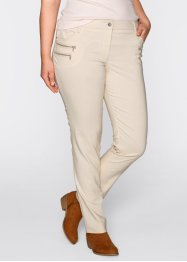 Pantalon extensible en bengaline, bpc bonprix collection, beige galet