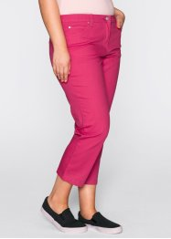 Pantalon extensible 7/8, bpc bonprix collection, fuchsia foncé