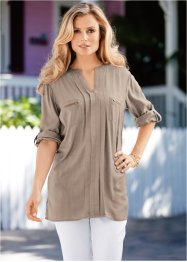 Blouse-tunique, bpc selection, taupe