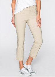 Pantalon extensible amincissant 7/8, bpc bonprix collection, beige galet