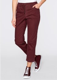 Pantalon extensible 7/8, bpc bonprix collection, bordeaux