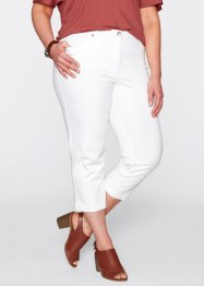 Pantalon extensible galbant 3/4, bpc bonprix collection, blanc