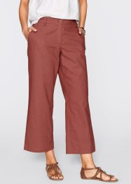 Pantalon lin 7/8 ample, bpc bonprix collection, blanc