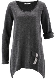 Pull manches longues, bpc bonprix collection, anthracite chiné