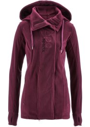 Veste polaire longue, bpc bonprix collection, prune
