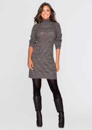 Pull long, BODYFLIRT, gris chiné