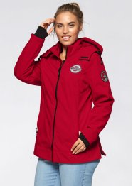 Veste softshell extensible outdoor, bpc bonprix collection, rouge foncé
