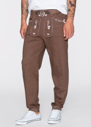 Pantalon sweat bavarois Slim Fit, RAINBOW, marron chiné