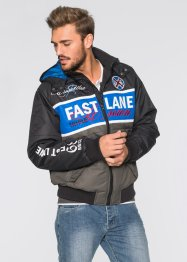 Blouson Regular Fit, RAINBOW, anthracite/bleu azur