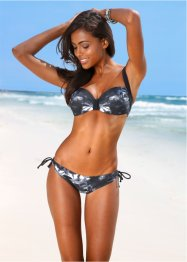 Bas de bikini, bpc bonprix collection, noir/blanc
