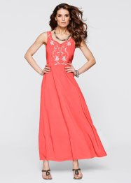 Robe brodée, bpc selection, corail