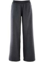 Pantalon Punto di Roma, ample, bpc bonprix collection, anthracite chiné