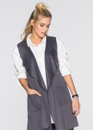 Gilet long sans manches, RAINBOW, anthracite