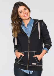 Gilet sweat-shirt, John Baner JEANSWEAR, noir