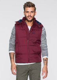 Doudoune sans manches Regular Fit, RAINBOW, bordeaux