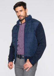 Blouson outdoor en maille Regular Fit, bpc selection, bleu foncé