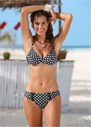 Slip de bikini, bpc bonprix collection, noir/blanc à pois