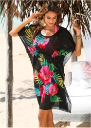 Tunique de plage, bpc selection, noir/fuchsia