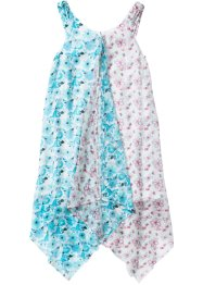 Robe base en pointe à imprimé floral, bpc bonprix collection, blanc/bleu ciel imprimé