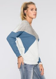 Sweat-shirt, RAINBOW, gris/bleu/blanc cassé