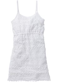 Robe en dentelle crochet, bpc bonprix collection, blanc