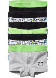 Lot de 5 boxers, bpc bonprix collection, noir/vert anis/gris clair chiné