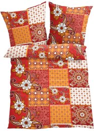 Linge de lit Patch, bpc living, rouge