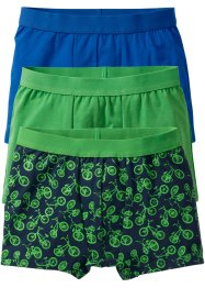 Lot de 3 boxers, bpc bonprix collection, vert/bleu