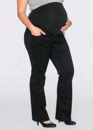 Pantalon de grossesse en twill, bootcut, bpc bonprix collection, noir