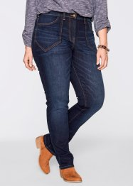 Jean extensible taille haute, bpc bonprix collection, dark denim