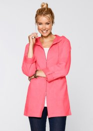 Gilet sweat long, manches longues, bpc bonprix collection, fuchsia clair