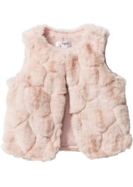 Gilet synthétique imitation fourrure, bpc bonprix collection, rose clair