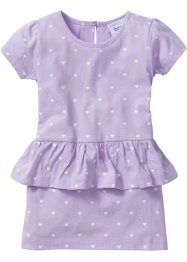 Robe à basque, bpc bonprix collection, mauve imprimé