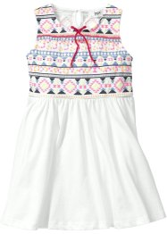 Robe en jersey, bpc bonprix collection, blanc cassé/multicolore