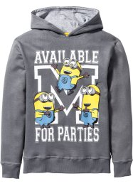 Sweat-shirt à capuche MINIONS, Despicable Me 2, anthracite chiné
