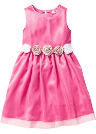Robe avec application florale, bpc bonprix collection, rose flamant