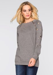 Sweat-shirt, BODYFLIRT boutique, gris chiné