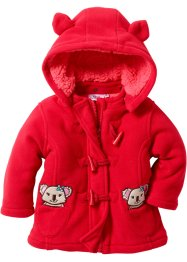 Gilet polaire bébé, bpc bonprix collection, rouge/capucine