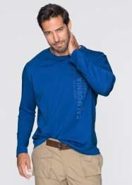 T-shirt manches longues Regular Fit, bpc bonprix collection, bleu azur