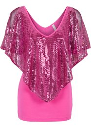 T-shirt avec sequins, BODYFLIRT boutique, fuchsia