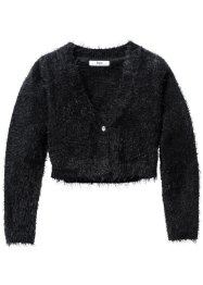 Cardigan duveteux, bpc bonprix collection, noir
