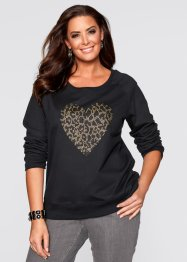 Sweat-shirt avec application, bpc selection, noir