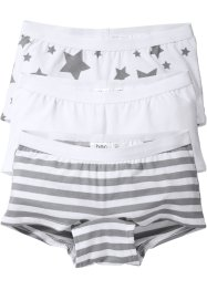 Lot de 3 boxers, bpc bonprix collection, blanc imprimé