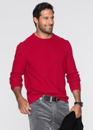 Pull Regular Fit, bpc bonprix collection, rouge foncé