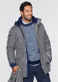 Veste longue fonctionnelle Regular Fit, bpc bonprix collection, gris fumée