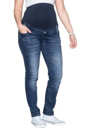 Jean de grossesse style destroyed, skinny, bpc bonprix collection, dark denim
